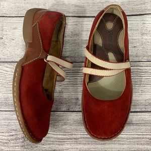 Born Red Suede Mary Janes